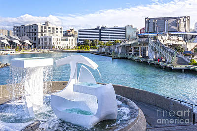 Albatross Fountain Wellington New Zealand Poster by Colin and Linda McKie