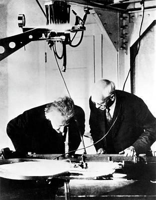 Albert Einstein And Charles St. John Poster