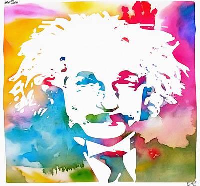 Albert Einstein  Poster by Dan Sproul