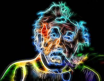 Albert Einstein Neon Poster