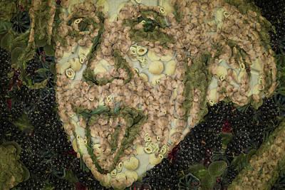 Albert Einstein Sticking His Tongue Vegetables Art Poster by Eti Reid