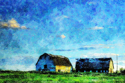Alberta Barn At Sunset Poster