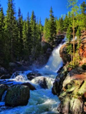 Alberta Falls In Rocky Mountain National Park Poster by Dan Sproul