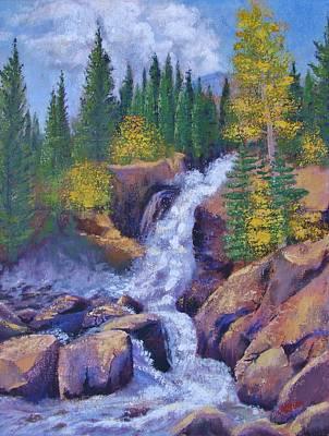 Alberta Falls Poster by Margaret Bobb