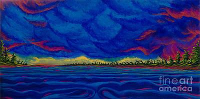 Alberta Storm Poster by Jo-Anne Elniski