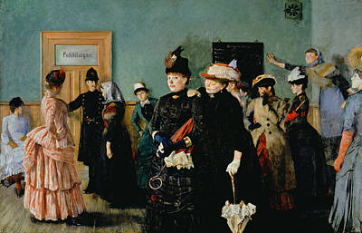 Albertine At The Police Doctors Waiting Room, 1886-87 Poster by Christian Krohg