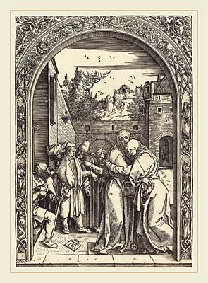 Albrecht Dürer German, 1471-1528, Joachim And Anna Poster by Litz Collection
