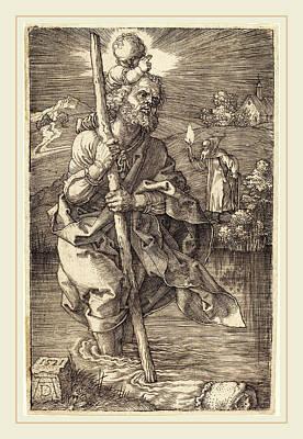 Albrecht Dürer German, 1471-1528, Saint Christopher Facing Poster