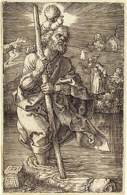 Albrecht Dürer German, 1471 - 1528, Saint Christopher Poster