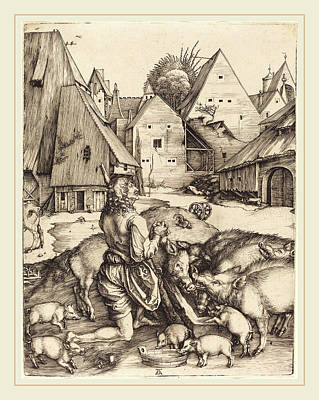 Albrecht Dürer German, 1471-1528, The Prodigal Son Poster by Litz Collection