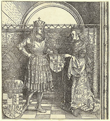 Albrecht Dürer, The Betrothal Of Maximilian With Mary Poster