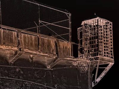 Alcatraz Gun Walk Guard Cage Poster by Daniel Hagerman