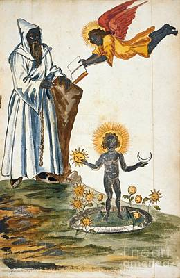 Alchemical Symbolism, 17th Century Poster by British Library