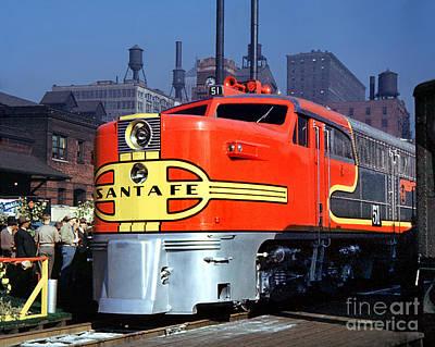 Alco Pa-1 51 Santa Fe Chief Diesel Locomotive Chicago 1946 Poster
