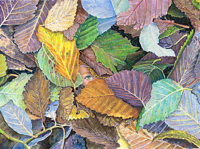 Alder Leaves And Faerie Poster by Nick Payne