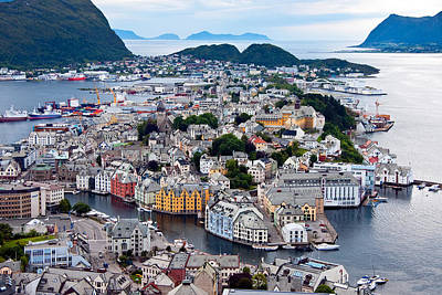 Alesund Scenic Poster by Dennis Cox WorldViews