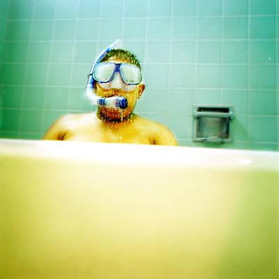 Alex In Tub Poster by Yo Pedro
