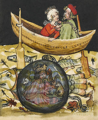 Alexander The Great In Diving Bell Poster by Getty Research Institute