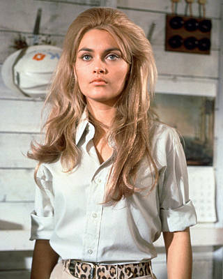 Alexandra Bastedo In The Champions Poster by Silver Screen