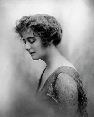Alexandra Carlisle Wearing A Chiffon Dress Poster by Clarence White