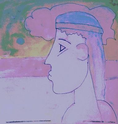 Poster featuring the digital art Alexandria by David Clark