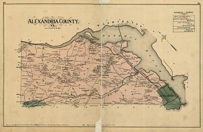 Alexandria Virginia 1878 Poster