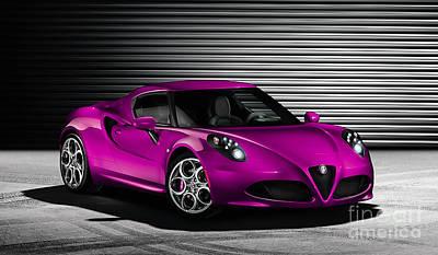 Alfa Romeo Poster by Marvin Blaine