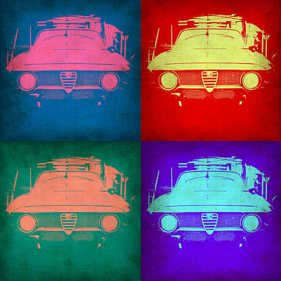 Alfa Romeo  Pop Art 1 Poster by Naxart Studio