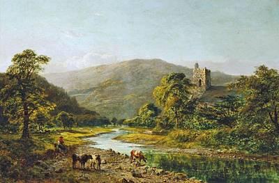 St. Grwst Church Llanrwst On The Conwy 1871 Poster