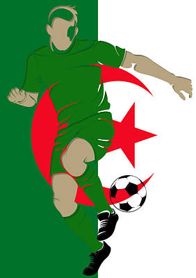 Algeria Soccer Player3 Poster by Joe Hamilton