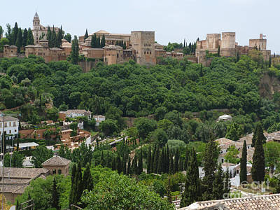 Poster featuring the photograph Alhambra - Granada - Spain by Phil Banks