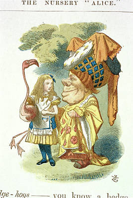 Alice With Her Croquet Poster