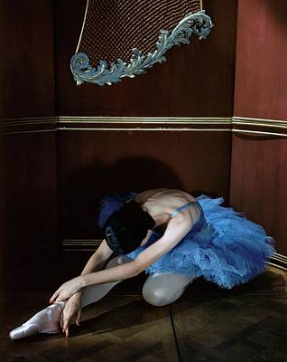 Alicia Markova In A Blue Tutu Poster by Horst P. Horst