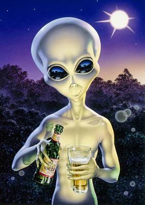 Alien Brew Poster by Steve Read