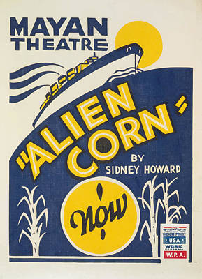 Poster featuring the painting Alien Corn by American Classic Art