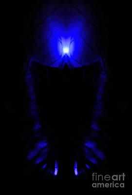 Alien Creature Illuminated  Poster