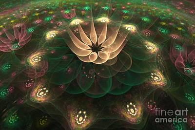 Poster featuring the digital art Alien Flower by Svetlana Nikolova