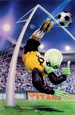 Alien Goal Keeper Poster by Steve Read
