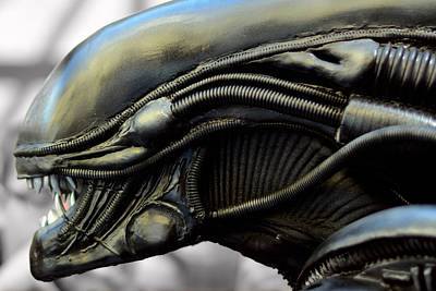 Alien In Closeup Poster