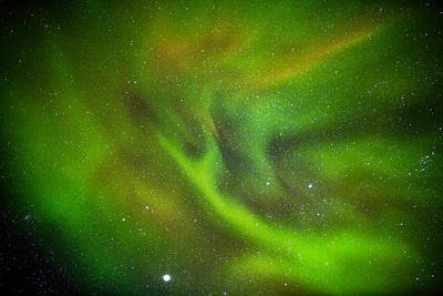 Alien Like Patterns In The Auroras Poster