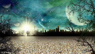 Alien World City Poster