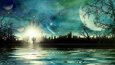 Alien World Waterscape Poster