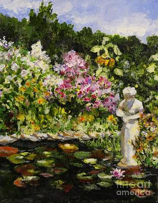 Poster featuring the painting Alisons Water Garden by Alison Caltrider