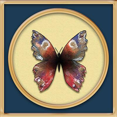 Alizarin Butterfly Poster