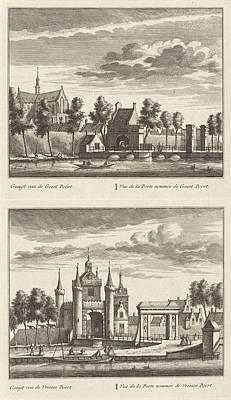 Alkmaar With City Gates And The Great Church Poster