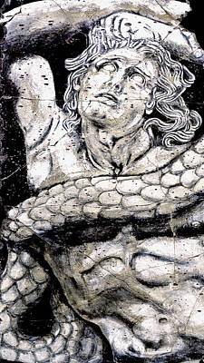 Alkyoneus - Detail No. 1 Poster by Steve Bogdanoff