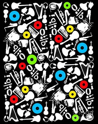 All Abut Music  Poster by Mark Ashkenazi