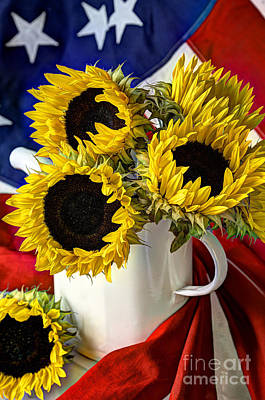 All American Sunflowers Poster