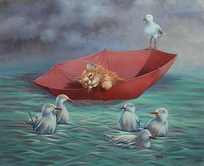 Poster featuring the painting All At Sea by Cynthia House