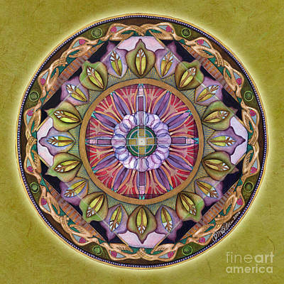 All Is Well Mandala Poster by Jo Thomas Blaine